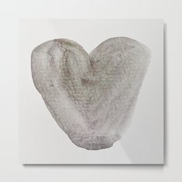 Grey Heart Metal Print