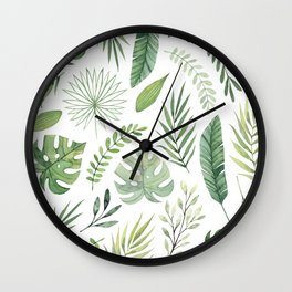 Leaves 8 Wall Clock