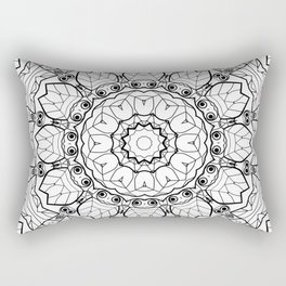 "Black and white pattern . ""Lola"" Notepad-cover-coloring . Rectangular Pillow"