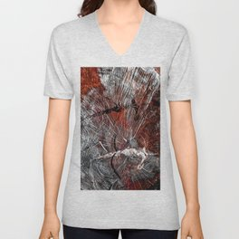 RED ARCHETYPAL STRUCTURES Unisex V-Neck