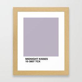 midnight kisses Framed Art Print