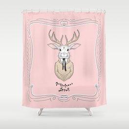 Epistolarus Lepus (pale pink) Shower Curtain