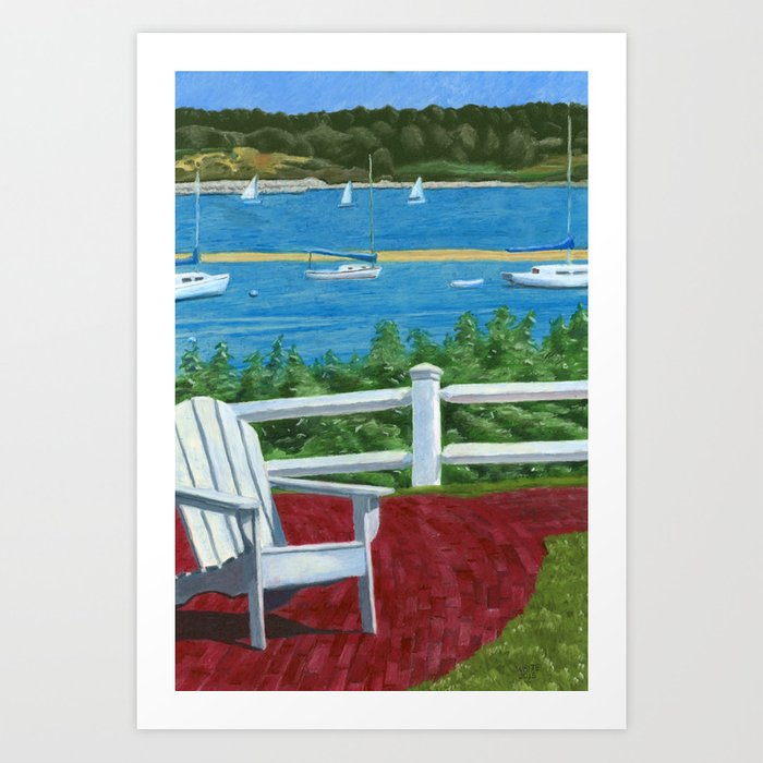 Exceptionnel Adirondack Chair On Cape Cod Art Print