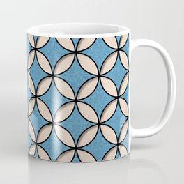 Denim and Skin Circles Pattern Coffee Mug
