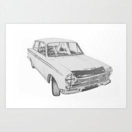 Ford Cortina Mk1 Lotus Art Print