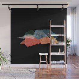Birds fly away (black) Wall Mural