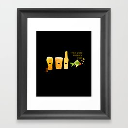 the very thirsty fish Framed Art Print
