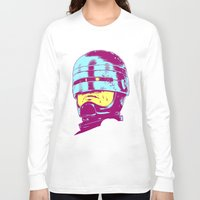 robocop Long Sleeve T-shirts featuring Robocop (neon) by Liam Brazier