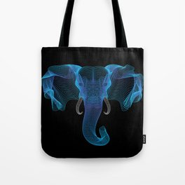 The Eloofah Elephant (Blue) Tote Bag