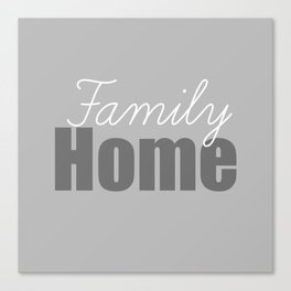 Family Home Canvas Print