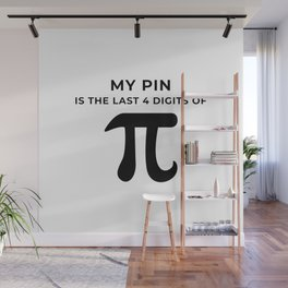 My pin is the last 4 digits of Pi Wall Mural