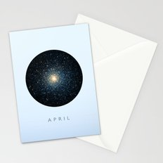 April inspired Stationery Cards