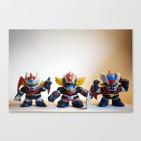 heroes Canvas Prints featuring heroes by caporilli