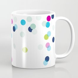 CUTE CONFETTI SPOTS - bright colorful - pink, aqua blue, mint, navy Coffee Mug