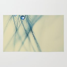 feather blue Rug