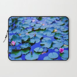 Water lilies in a pond Laptop Sleeve