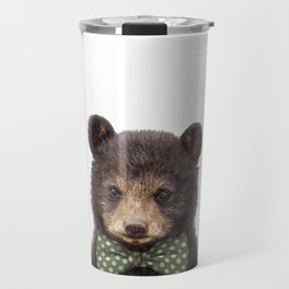 Baby Bear With Bow Tie, Baby Animals Art Print By Synplus Travel Mug