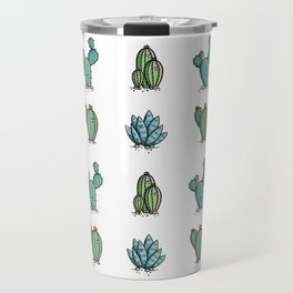 Kawaii Cute Desert Cacti Plants Travel Mug