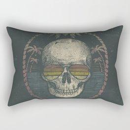 Palm Skull Rectangular Pillow
