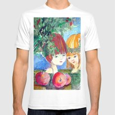 Little Adam and Eve White MEDIUM Mens Fitted Tee