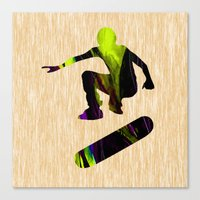 skateboard Canvas Prints featuring Skateboard by marvinblaine