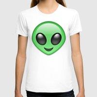 emoji T-shirts featuring Alien Emoji by Nolan Dempsey