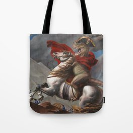 T. Rex Crossing the Alps Tote Bag
