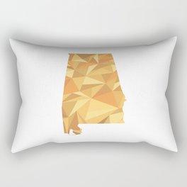 Alabama Pattern Map Art Rectangular Pillow