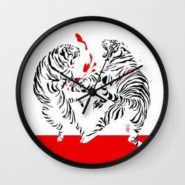 Tora Tora! // (tiger fight) Wall Clock