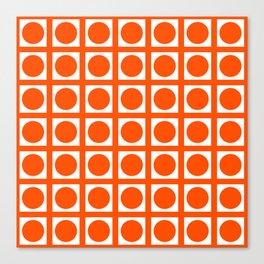 Vermillion Elegant Grid Dots Canvas Print