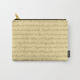 Manuscript Carry-All Pouch