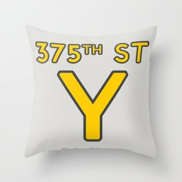 375th Street Y Throw Pillow