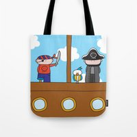 pirates Tote Bags featuring Pirates by oekie