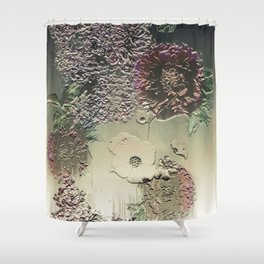 Metallic Botany Shower Curtain