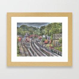 Goathland Railway Station & Sidings Framed Art Print