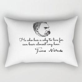 Friedrich nietzsche quotes Rectangular Pillow