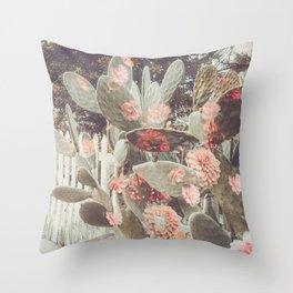 Cactus Flowers Throw Pillow