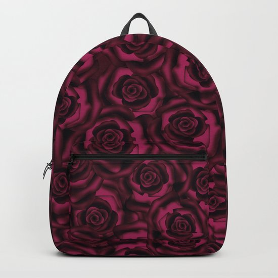 Dark Burgundy roses. Backpack