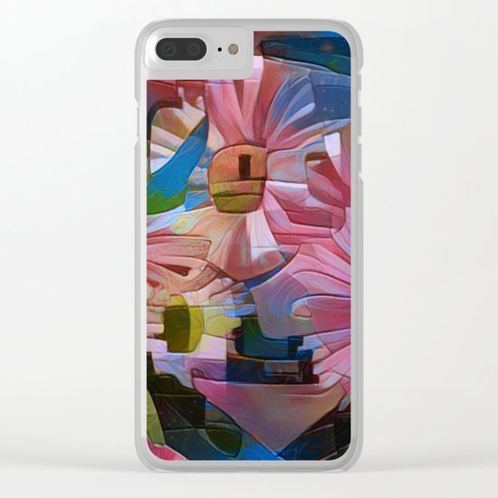 A Daisy Abstract Clear iPhone Case