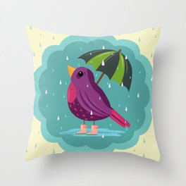 Rainy Days Are Still Good Days Throw Pillow