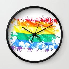 LGBTQ Splatter Wall Clock