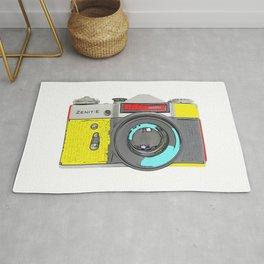 Pop Art Vintage Camera Rug