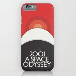 2001 A Space Odyssey - Stanley Kubrick minimalist movie poster, Red Version, fantasy film iPhone Case