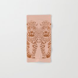 Sunset Blvd Leopard - blush pink and coral original print by Kristen Baker Hand & Bath Towel