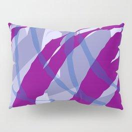 Purple Streaks & Blocks Abstract Art Pillow Sham