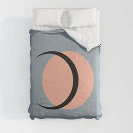 Full / Crescent Moon Abstract IV Comforters