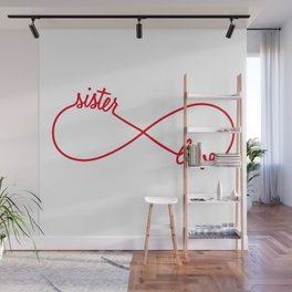 Sister love, infinity sign Wall Mural