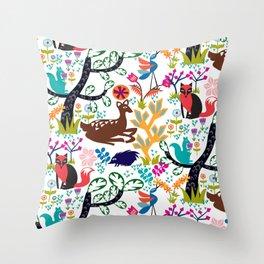 Forest Fairytale Throw Pillow