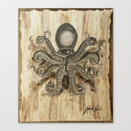 Squid Ink Canvas Print