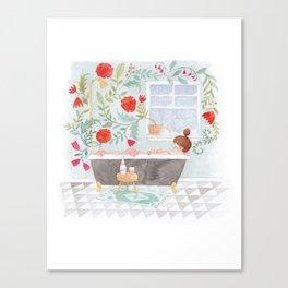 Rosé Bath Canvas Print